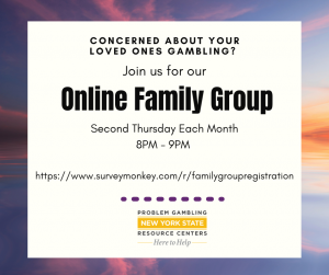 Join us for our Online Family Group Second Thursday Each Month 8pm - 9pm